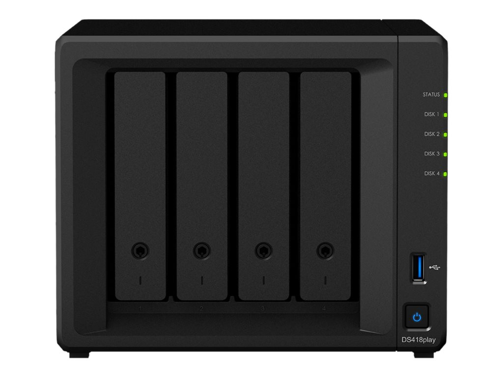 Synology Disk Station DS418Play - NAS server - 0 GB