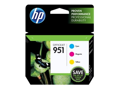 HP 951 3-pack yellow, cyan, magenta original blister ink cartridge