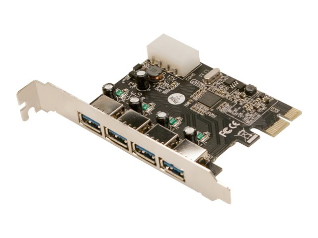 LogiLink USB 3.0 4-Port PCI Express Card - USB-Adapter - PCIe 2.0 - USB 3.0 x 4