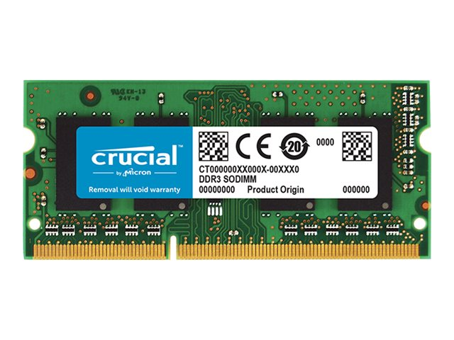 Crucial - DDR3 - 4 GB - SO DIMM 204-PIN - 1866 MHz / PC3-14900 - CL13