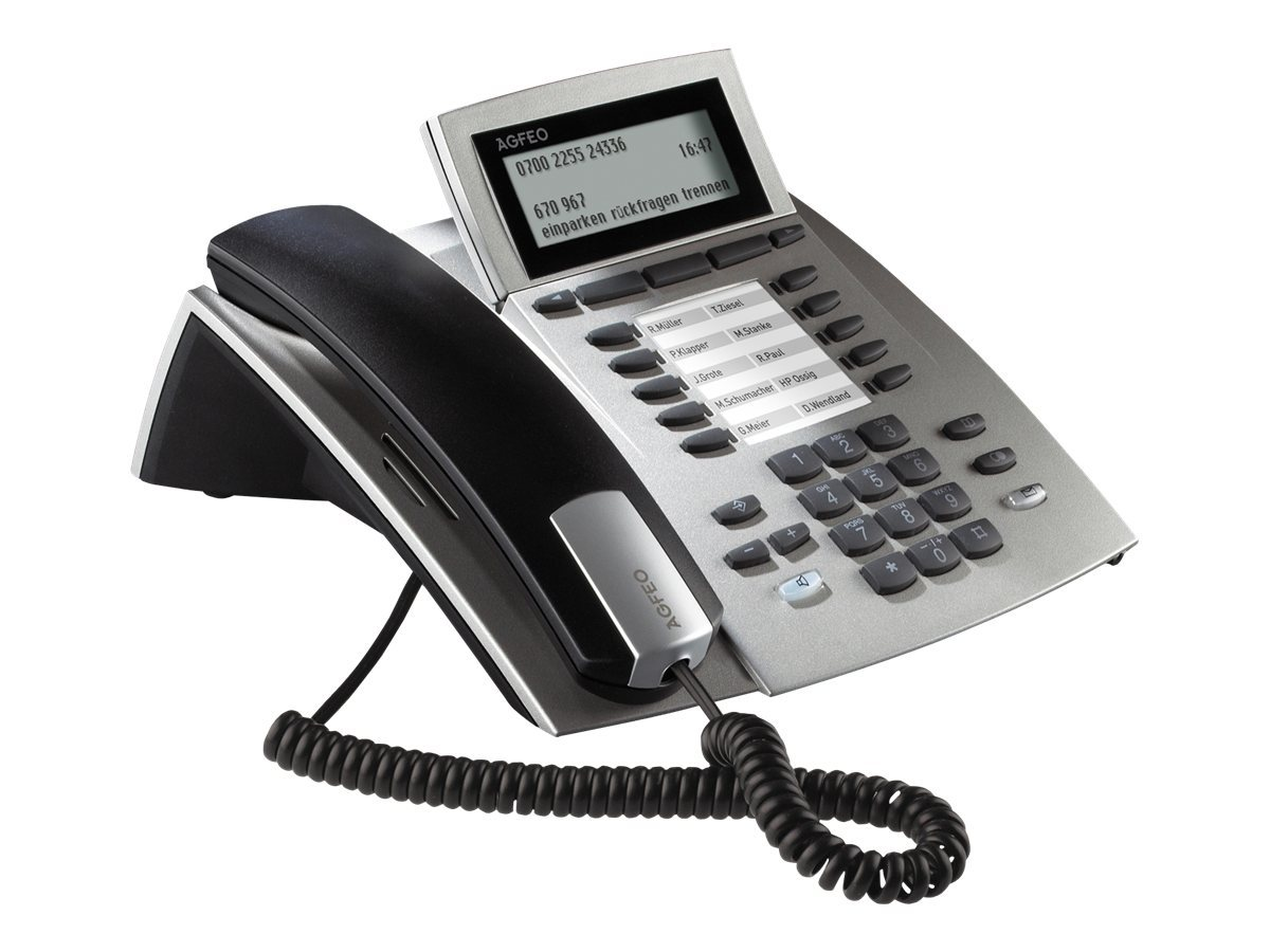 AGFEO ST 42AB - ISDN-Telefon - Anrufbeantworter - Silber