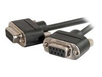 C2G Null modem cable DB-9 (F) to DB-9 (F) 15 ft molded, thumbscrews black