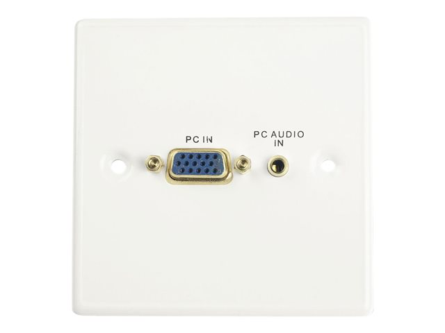 LINDY VGA/Audio Faceplate - Mounting plate - HD-15, mini-phone stereo 3.5 mm - 1-gang