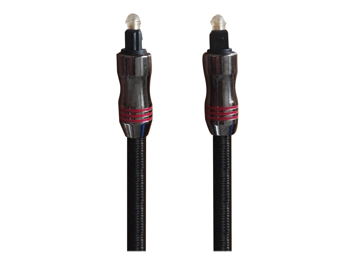 Sandberg Excellence - Digitales Audio-Kabel (optisch) - TOSLINK (M) bis TOSLINK (M) - 2 m - Glasfaser