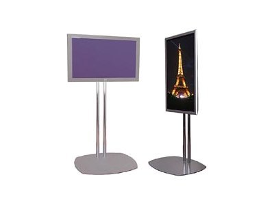 Premier Mounts PSD TS72 Stand for flat panel metal chrome floor-standing