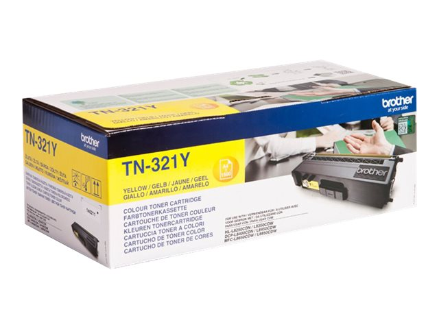 Brother TN321Y - Jaune - originale - cartouche de toner - pour Brother DCP-L8400, DCP-L8450, HL-L8250, HL-L8350, MFC-L8650, MFC-L8850