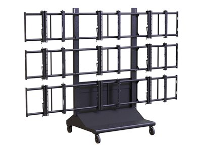 Premier Mounts MVWC-3X3 Cart for 9 LCD / plasma panels / AV System black -