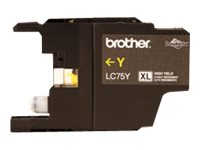 Brother LC-75Y - High Yield - yellow - original - ink cartridge