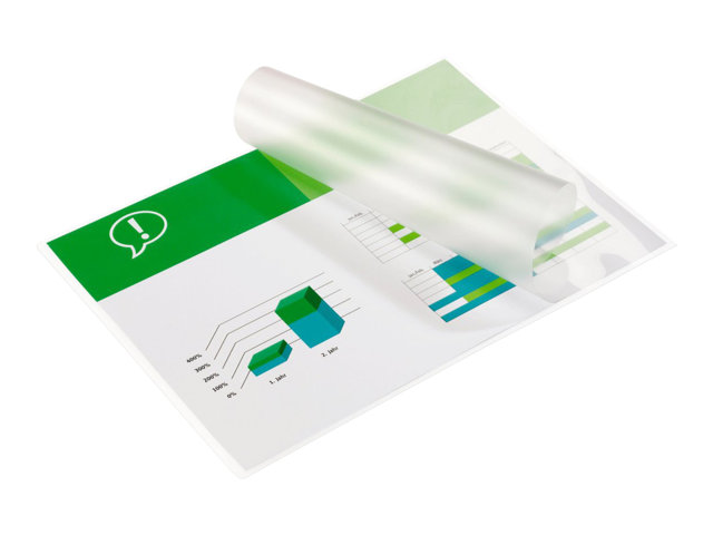Image of GBC HeatSeal Document Pouch - 100-pack - glossy - 303 x 426 mm - lamination pouches