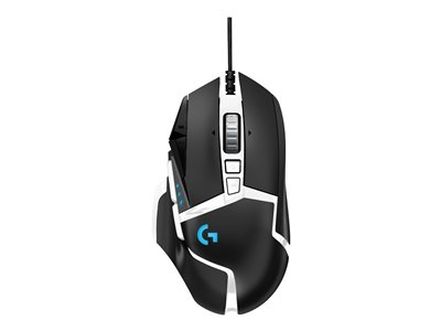 Logitech Gaming Mouse G502 (Hero) Optisk Kabling Sort Hvid