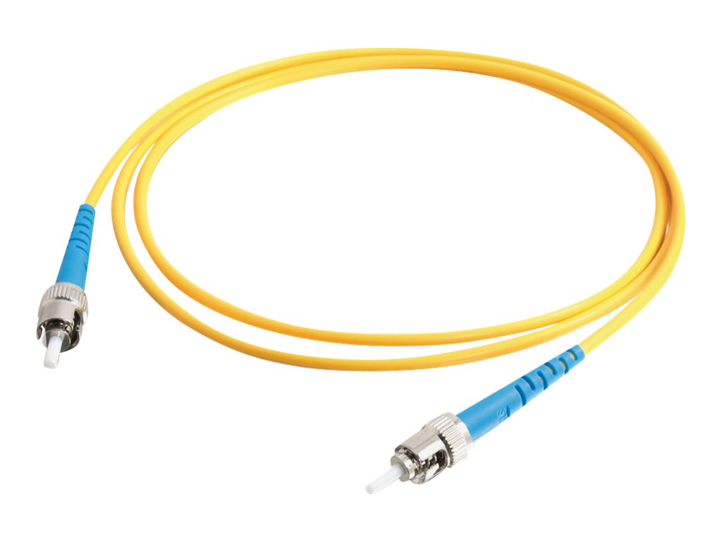 C2G 2m ST-ST 9/125 Simplex Single Mode OS2 Fiber Cable - Yellow - 6ft - patch cable - 2 m - yellow