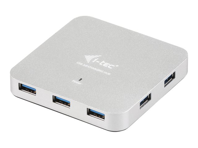 i-Tec USB 3.0 Metal Charging HUB - Concentrateur (hub) - 7 x SuperSpeed USB 3.0 - Ordinateur de bureau