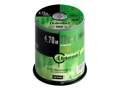 Intenso - 100 x DVD-R - 4.7 GB 16x - Spindel