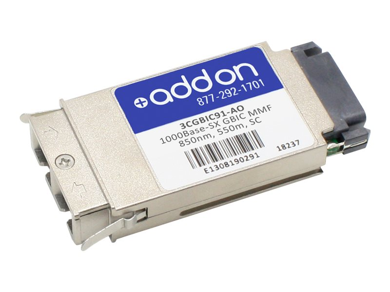 AddOn HP 3CGBIC91 Compatible GBIC Transceiver - GBIC transceiver module - GigE