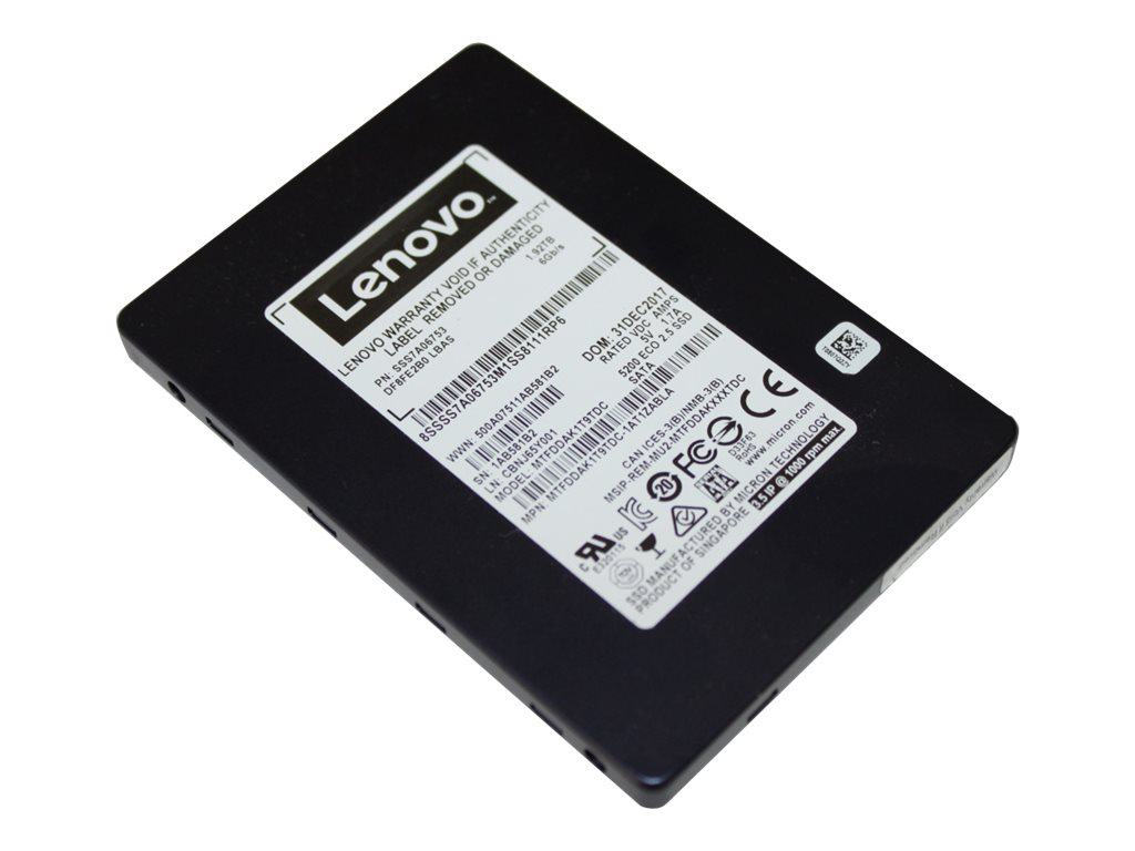 Lenovo ThinkSystem 5200 Entry - solid state drive - 7.68 TB - SATA 6Gb/s