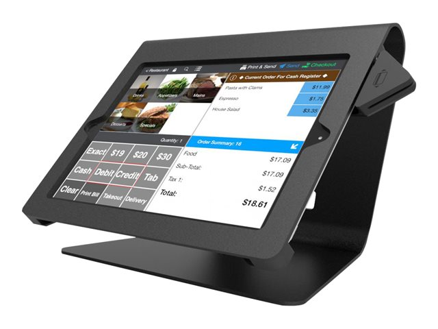 "Compulocks Nollie iPad 9.7"" POS Counter Top Kiosk Black - Pied pour tablette - noir - support pour ordinateur de bureau - pour Apple iPad Air; iPad Air 2"