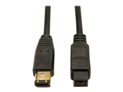 Tripp Lite 10ft Hi-Speed FireWire IEEE Cable-800Mbps with Gold Plated Connectors 9pin/6pin M/M 10' - IEEE 1394 cable - FireWire 800 to 6 pin FireWire - 10 ft