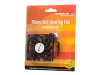 StarTech.com Replacement 70mm TX3 Dual Ball Bearing CPU Cooler Fan - Case fan - 70 mm - black