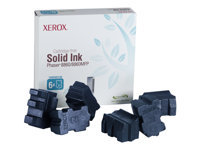 Xerox - 6 - cyan - solid inks - for Phaser 8860, 8860DN, 8860MFP, 8860MFP/D, 8860MFP/E, 8860MFP/SD, 8860PP, 8860WDN