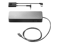 HP Universal - Docking station - USB-C - 2 x DP - GigE - 90 Watt - promo - with 4.5mm Adapter - United States - for HP 245 G7; EliteBook 735 G6, 745 G6; Mobile Thin Client mt45; ProBook 455r G6, 640 G5