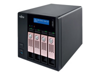 Fujitsu CELVIN NAS Server Q805 - NAS server - 4 bays - 8 TB - SATA 6Gb/s - HDD 2 TB x 4 - RAID 0, 1, 5, 6, 10, JBOD, 5 hot spare - RAM 2 GB - Gigabit Ethernet - iSCSI