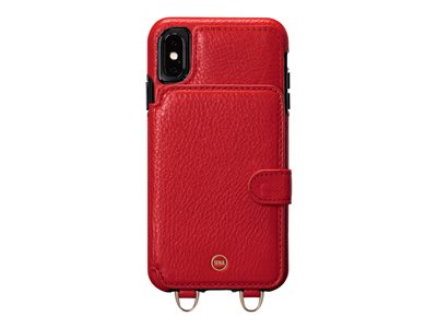 Sena Kyla Crossbody Snap On Back cover for cell phone genuine leather red