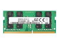 HP - DDR4 - 8 GB - SO-DIMM 260-pin - 2666 MHz / PC4-21300 - 1.2 V - unbuffered - non-ECC - promo - for Elite Slice G2; EliteDesk 705 G5, 800 G5; EliteOne 800 G5; ProOne 440 G5, 600 G5