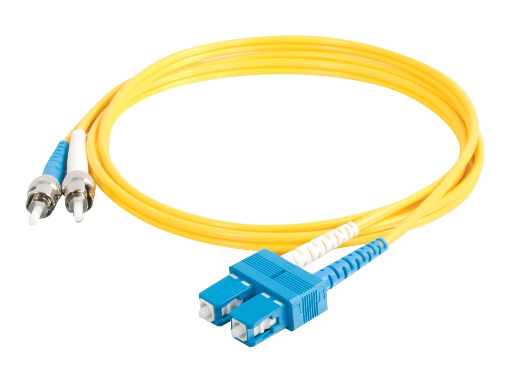 C2G 15m SC-ST 9/125 Duplex Single Mode OS2 Fiber Cable - Plenum CMP-Rated - Yellow - 50ft - patch cable - 15 m - yellow