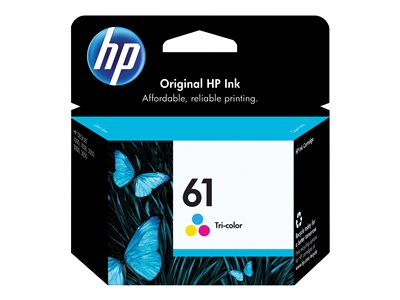 HP 61 3 ml dye-based tricolor original ink cartridge