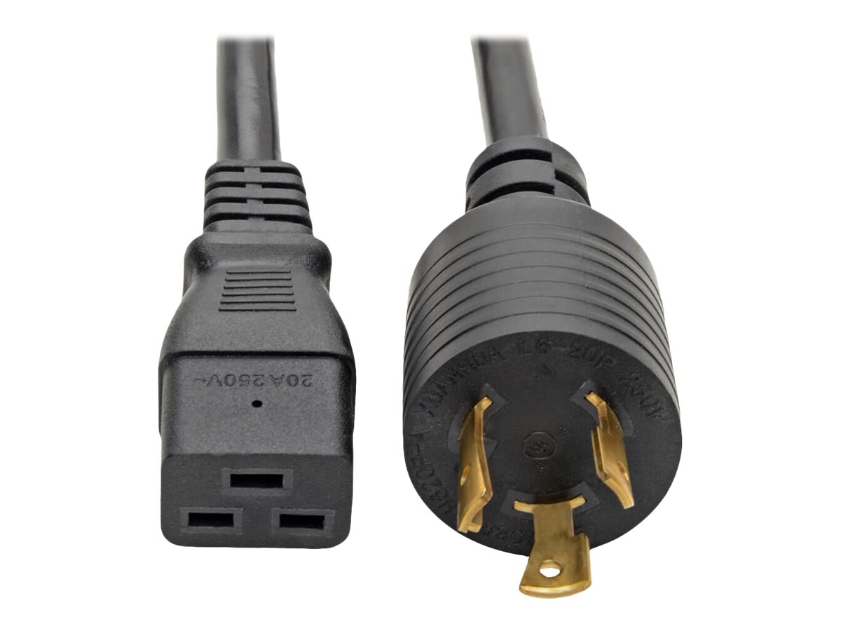 Tripp Lite 12ft Power Cord Extension Cable L6-20P to C19 for PDU/UPS Heavy Duty 20A 12 AWG 12' - power cable - 3.7 m