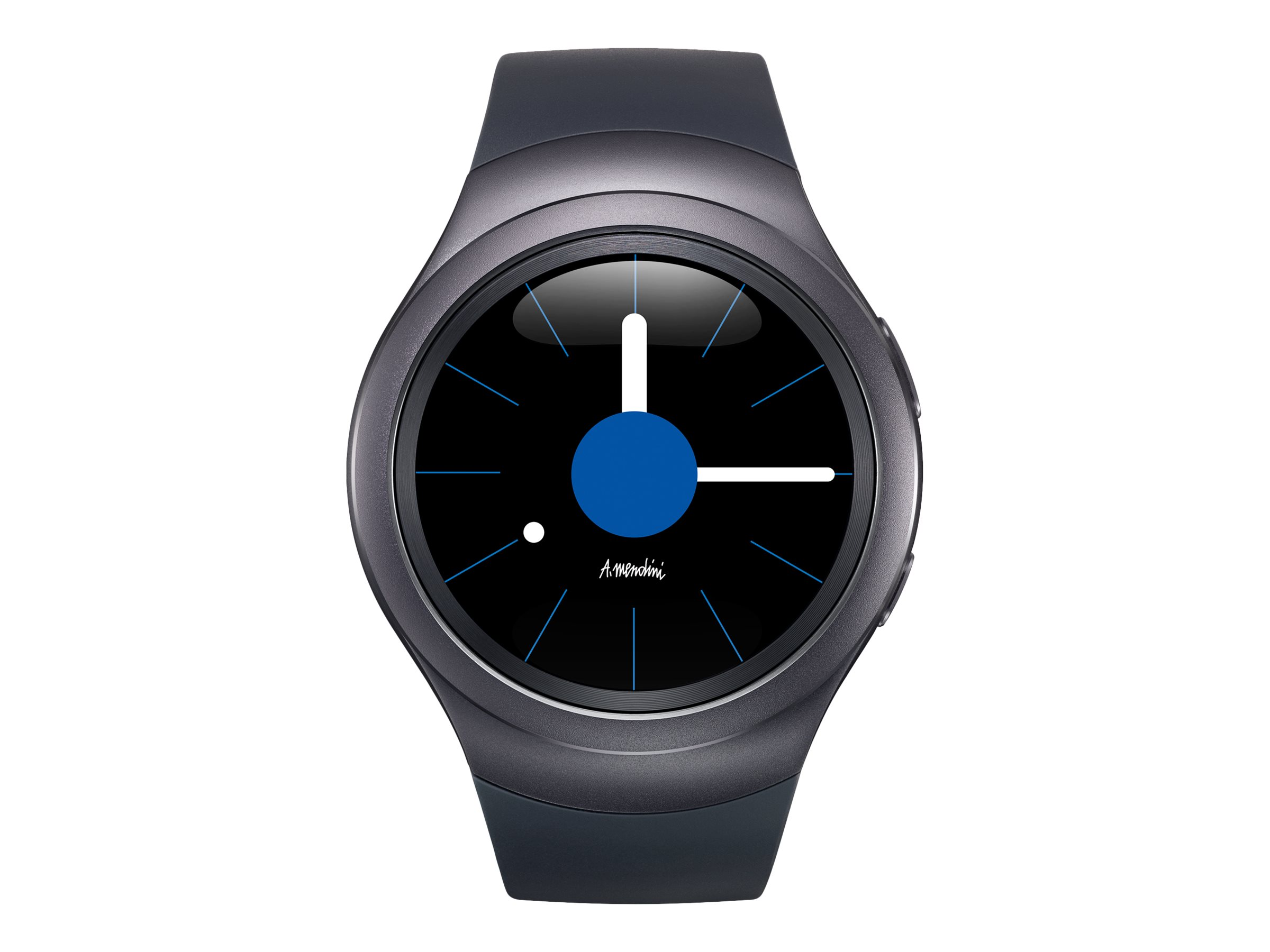 Samsung Gear S2 - dark gray - smart watch with strap - 4 GB - AT&T