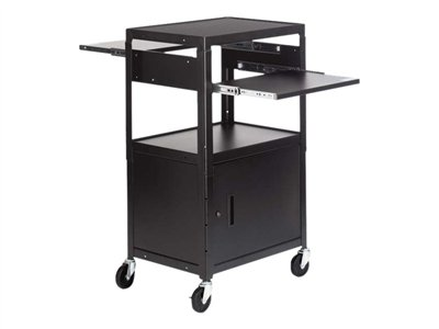Bretford Basics Adjustable Multimedia Cart With Cabinet CA2642DNSE