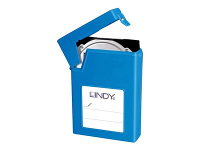 "Lindy SATA and IDE 3.5"" HDD Storage Case (Includes Stickers for Labelling) (Blue)"