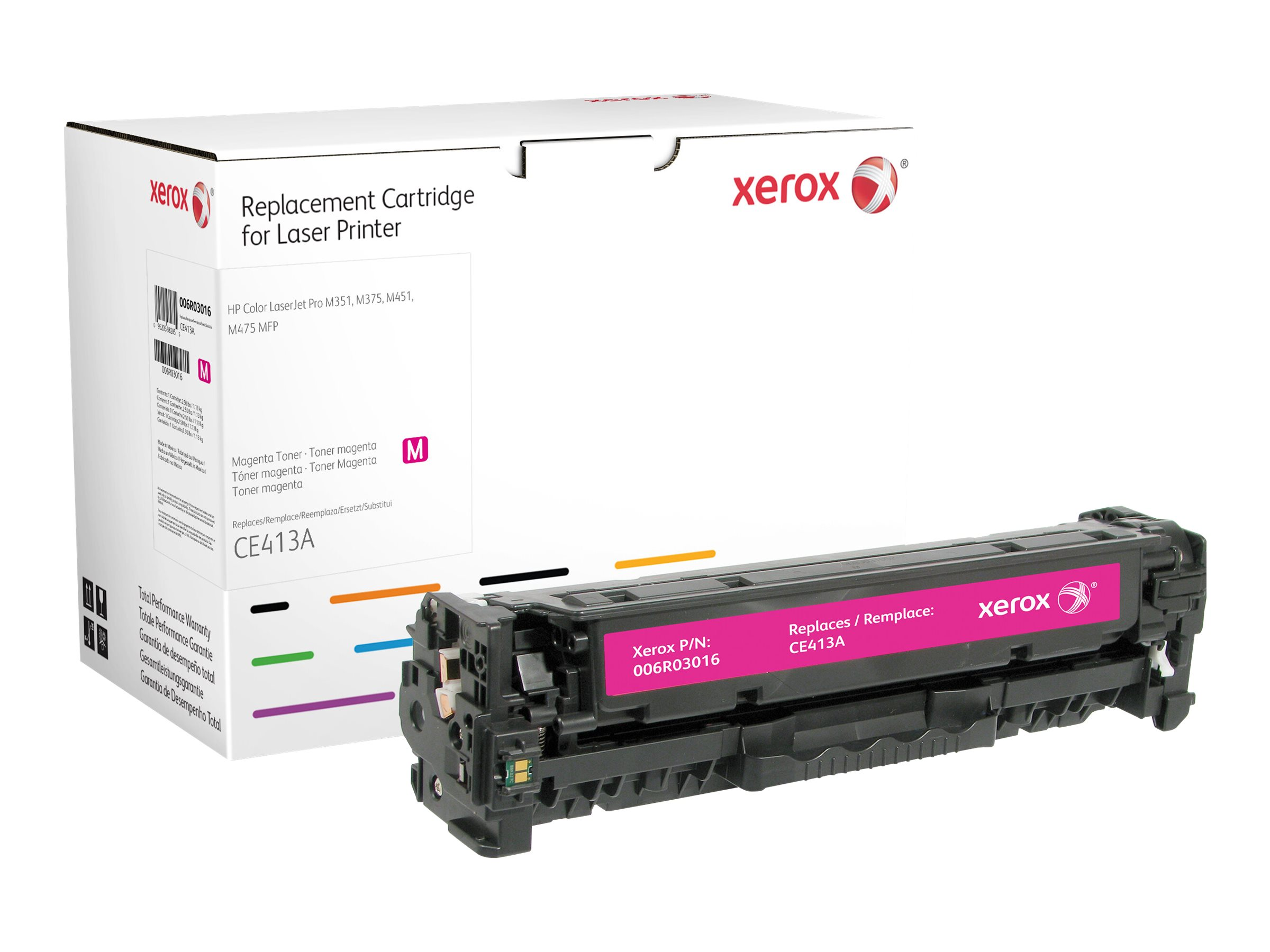 Xerox - magenta - original - toner cartridge (alternative for: HP CE413A)
