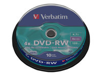 DataLifePlus - DVD-RW x 10 - 4.7 Go - support de stockage