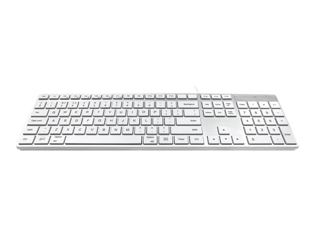 Image of Ceratech Accuratus 301 - keyboard - UK - white, silver