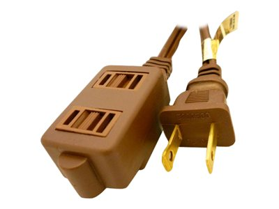 Professional Cable Power extension cable NEMA 1-15 (M) to NEMA 1-15 (F) 9 ft brown