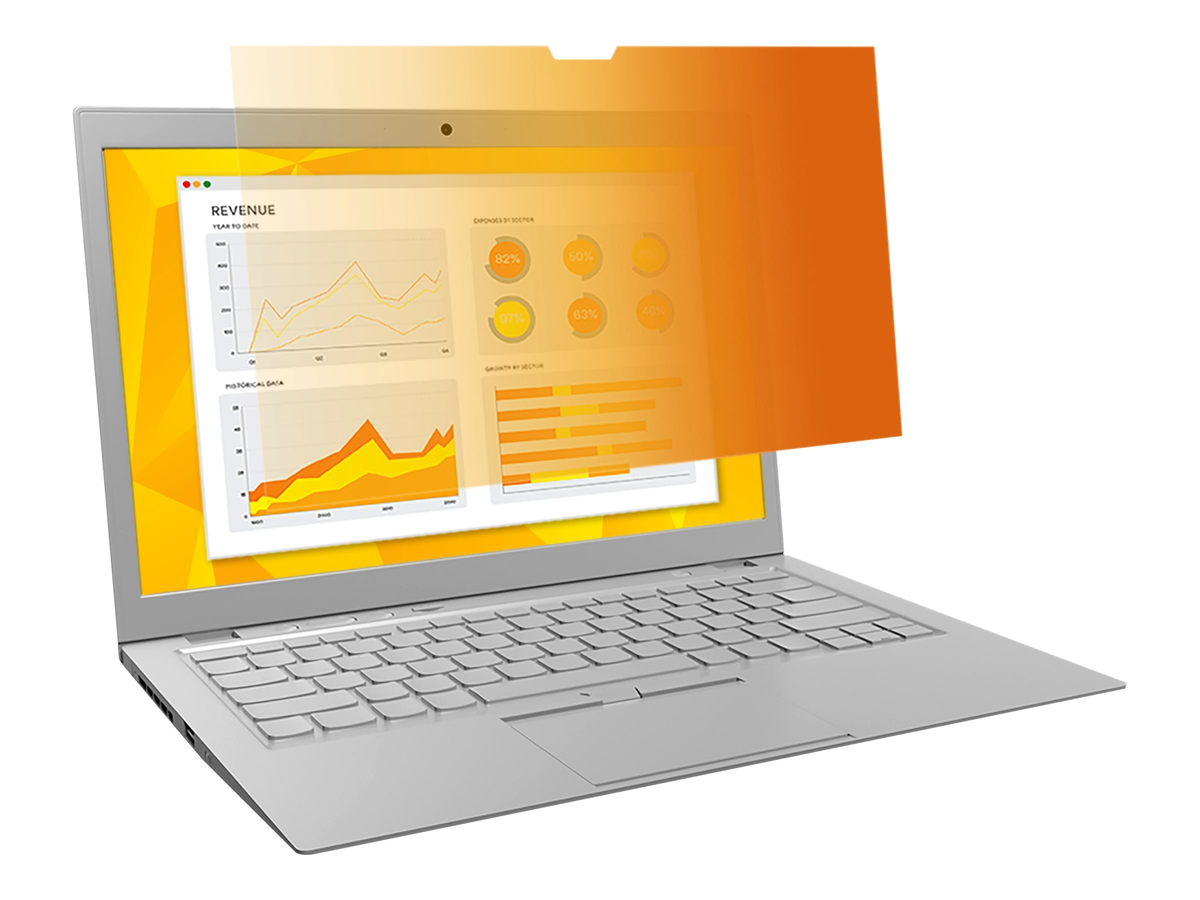 """3M Gold Privacy Filter for 15.4"""" Laptop (16:10) with COMPLY Attachment System notebook privacy filter"""