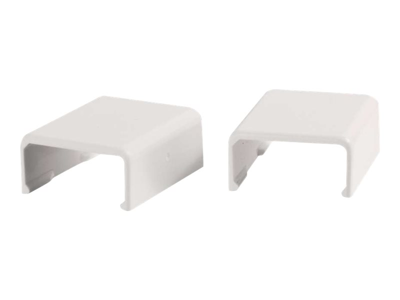 C2G 2 Pack Wiremold Uniduct 2700 Cover Clip - White - cable raceway cover clip
