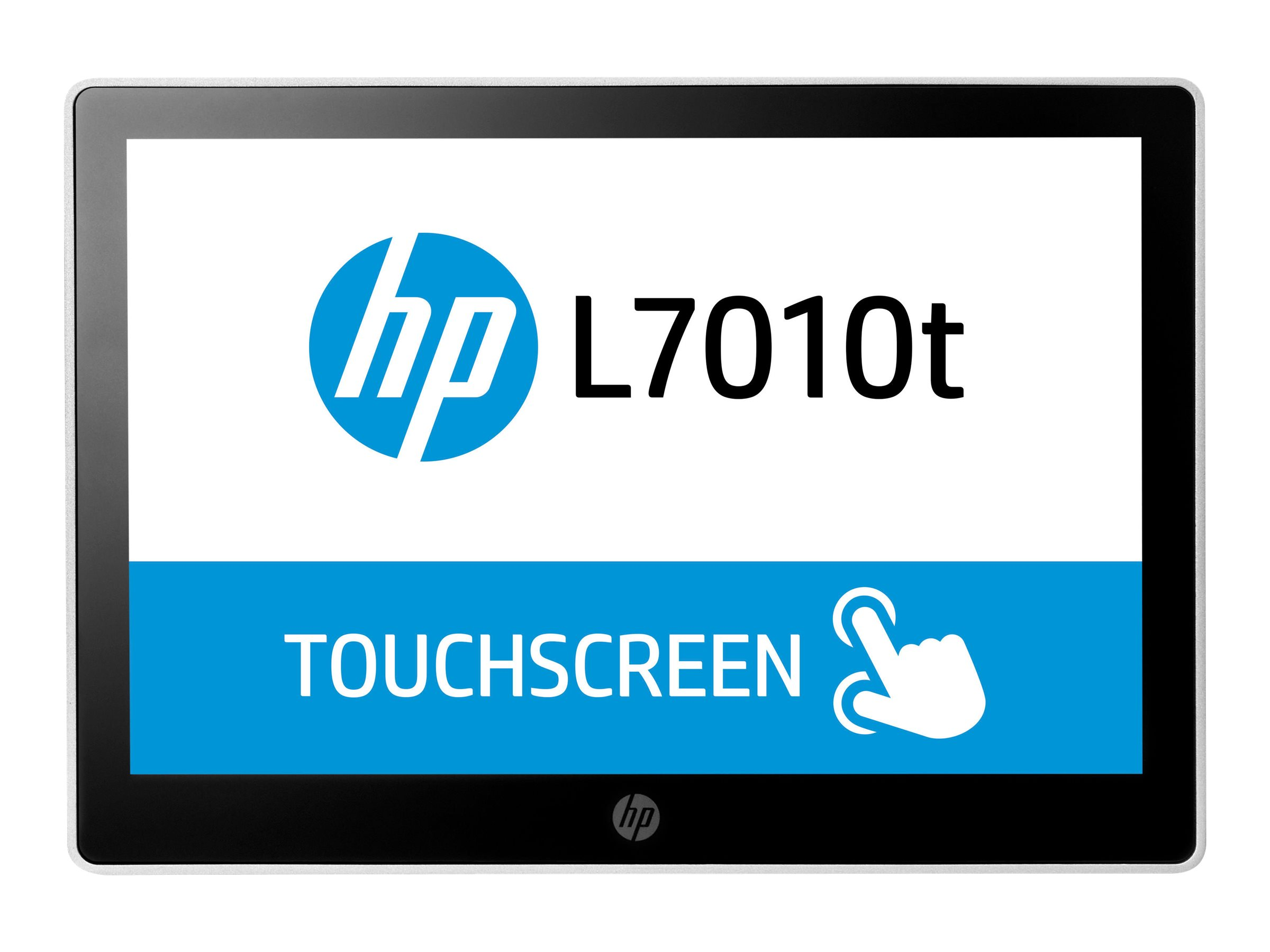 "HP L7010t Retail Touch Monitor - Écran LED avec commutateur KVM - 10.1"" (10.1"" visualisable) - écran tactile - 1280 x 800 - TN - 220 cd/m² - 800:1 - 30 ms - DisplayPort - noir HP, astéroïde"