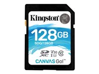 Image of Kingston Canvas Go! - flash memory card - 128 GB - SDXC UHS-I