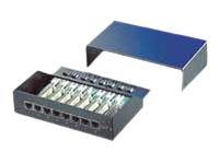 Roline - Patch Panel - Schwarz - 8 Ports