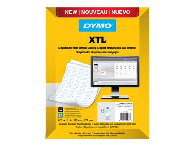 DYMO XTL Laminated - labels - 2040 label(s) - 41 x 23 mm