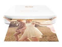HP Sprocket Plus Photo - Imprimante - couleur - zinc - 58 x 87 mm jusqu'à 1.13 min/page (couleur) - capacité : 10 feuilles - Bluetooth 4.0 - avec Papier photo HP ZINK Sticky-Backed (10 feuilles)