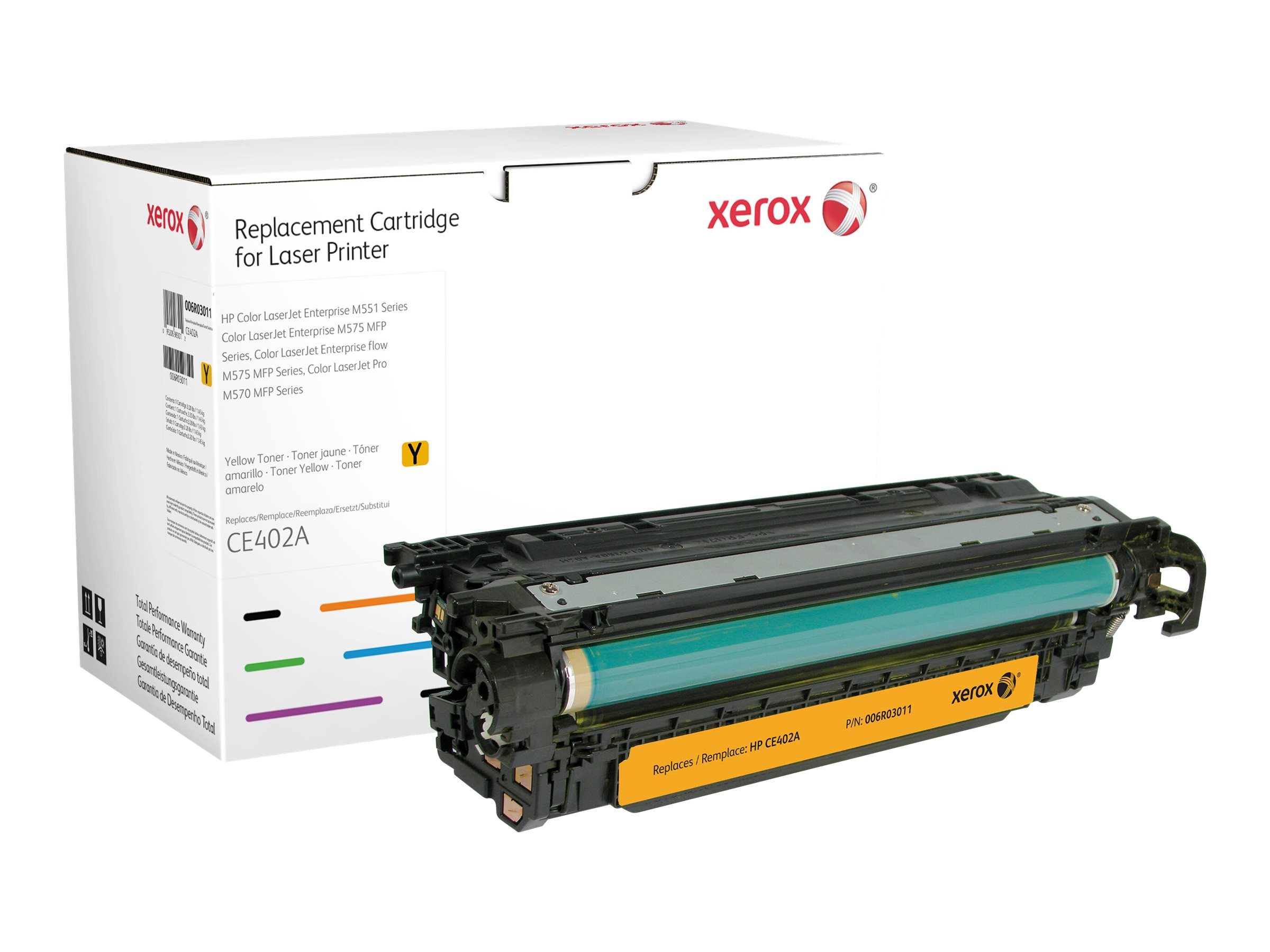 Xerox - yellow - original - toner cartridge (alternative for: HP CE402A)