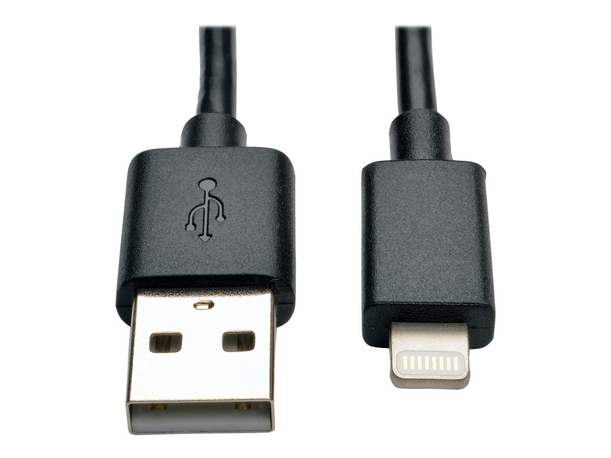 """Tripp Lite 10in Lightning USB/Sync Charge Cable for Apple Iphone / Ipad Black 10"""" - Lightning cable - Lightning / USB -…"""