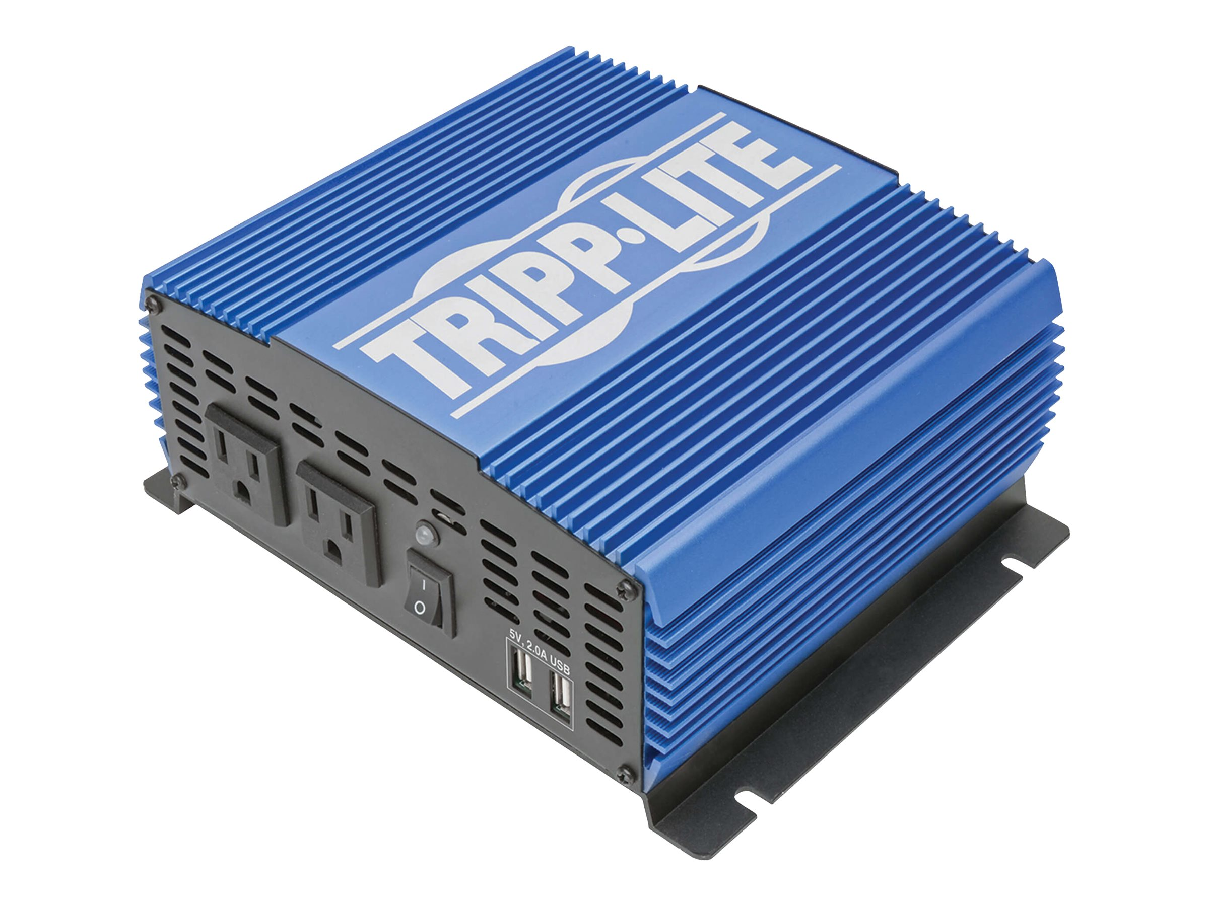Tripp Lite 1500W Compact Power Inverter Mobile Portable w/ 2 Outlets & 2 USB Charging Ports - DC to AC power inverter -…