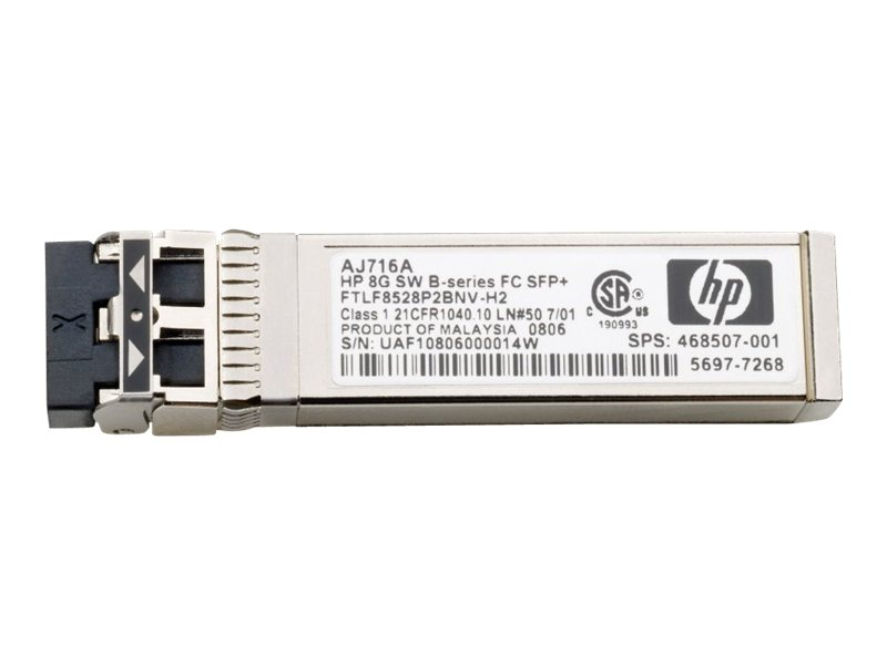 HPE - SFP+-Transceiver-Modul - 16Gb-Fibre-Channel (SW) - Fibre Channel (Packung mit 4) - für Modular Smart Array 2040, 2040 10Gb
