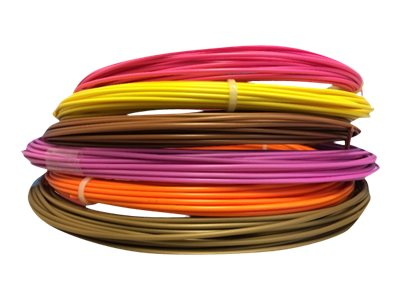 compatibles Autres marques OWA Filament 3D PS - Pack de 6 - jaune, orange, violet, bronze, or, rose - Ø 175 mm - 6x135G