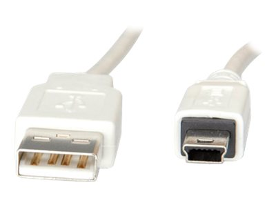 VALUE - USB-Kabel - USB (M) bis Mini-USB, Typ B (M) - USB 2.0 - 80 cm - weiß